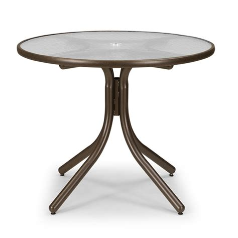 telescope casual 36 quot dining table with glass top