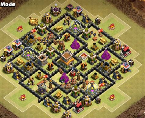 th8 layout new update th8 farming base bomb tower cocbases