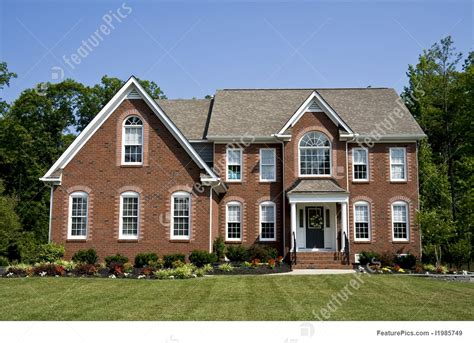 modern brick house residential architecture modern brick house stock picture i1985749 at featurepics