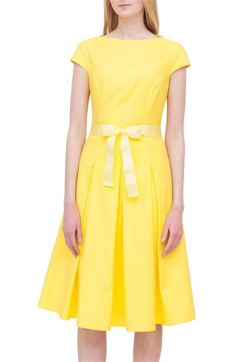 a yellow cotton dress alberre odette yellow cotton dress from marylebone