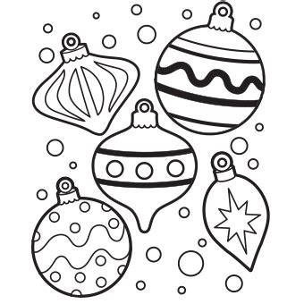 Ornaments Coloring Page Free Christmas Recipes Coloring Ornaments To Color
