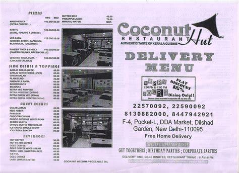 Garden Of Telephone Number Coconut Hut Restaurant Dilshad Garden Address Phone
