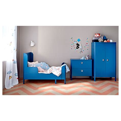 ikea children wardrobe busunge wardrobe medium blue 80x139 cm ikea