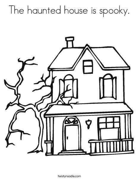 halloween coloring pages castle the haunted house is spooky coloring page twisty noodle