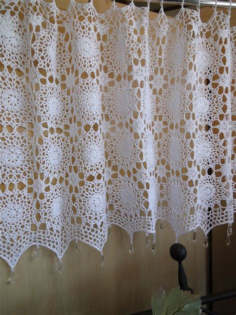 Crochet Cafe Curtains Beautiful Caf 233 Curtains Sweet Inspiration Crochet For The Kitchen Bath Pinterest