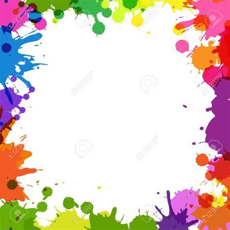 colorful borders colorful paint splatter border patterns