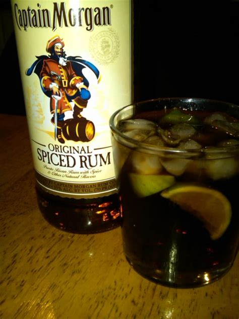 captain and coke cocktail recipe with drink picture