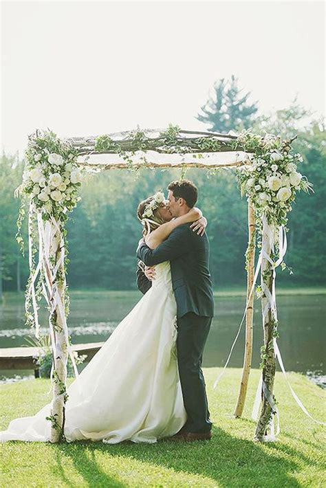 Wedding Arch Decorated With Flowers by 36 Wood Wedding Arches Arbors And Altars Weddingomania