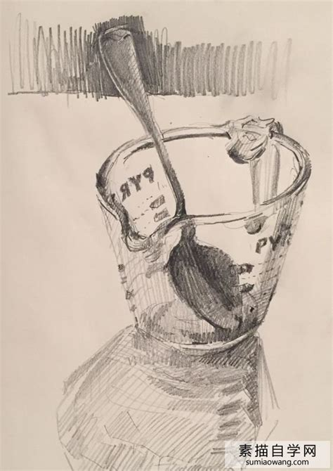5 Drawing Artist Information In Marathi by 超美的素描速写玻璃杯和勺子 素描自学网