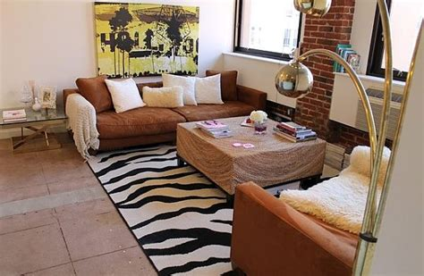 Zebra Rug Living Room by Decorating With Stripes For A Stylish Room