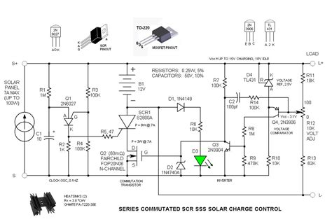 scr controlled battery charger circuit diagram series commutated scr sss solar charge