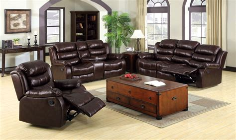 brown bonded leather 3 pc sofa loveseat with center