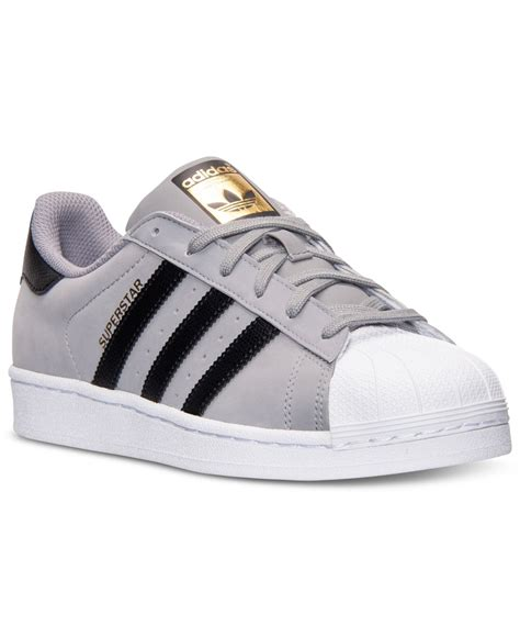 Adidas Slop Xiun Black Slip On Casual Formal Kets Sneakers Kerja lyst adidas s superstar casual sneakers from finish line in gray for