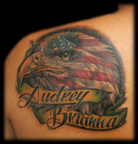 american pride tattoos bald eagle american flag brazil pride by maximilian