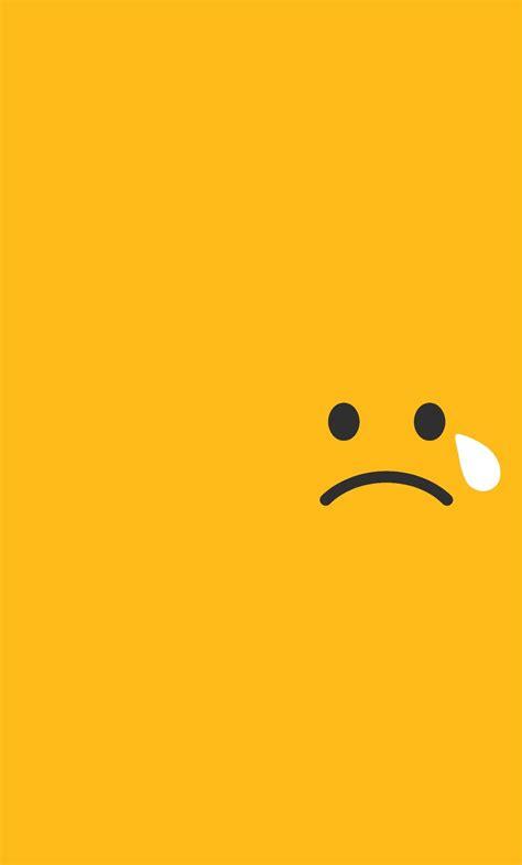 yellow wallpaper game download sad tears smiley minimalism 1024x768 resolution