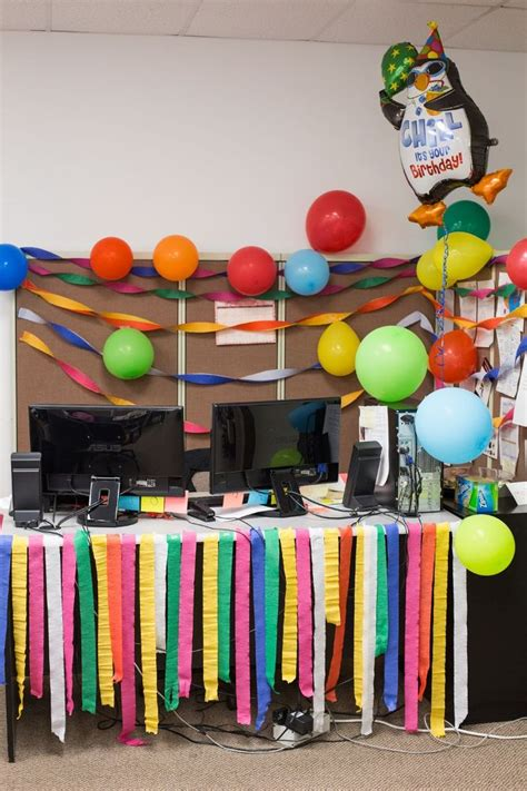 Office Birthday Decorations Birthday Ideas For Cubicle At Work Studio Design