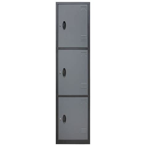 homak 3 door steel security cabinet locker gsgs00700300
