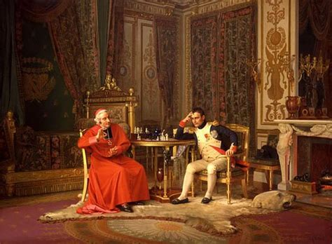 lme de napolon french jehan georges vibert 1840 1902 failure napoleon and cardinal fesch the haggin museum
