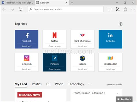 Search Goes To Address Bar Always Show Address Bar On New Tab Page In Edge Msft Next