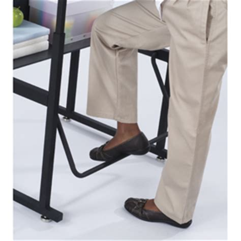 computer desk foot rest stand up classroom student desk adjustable height laptop