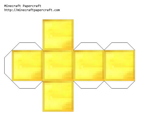 Gold Craft Paper - papercraft gold block