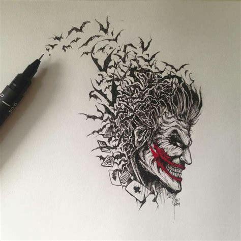 amazing batman tattoo amazing joker villains joker
