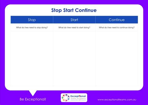 keep stop start template start stop continue template invitation template