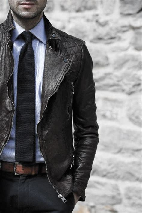 wear  leather jacket  men  fashion styles