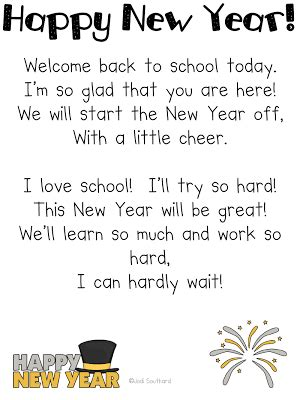 new year poem happy new year in grade