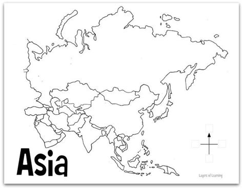 coloring page map of asia a game about asia layers of learning
