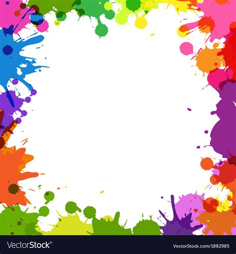 color frame frame with color blobs royalty free vector image