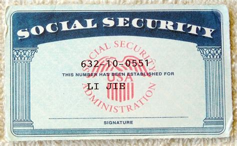 social security card template 1 pictures 1 images 1 photos 1 image