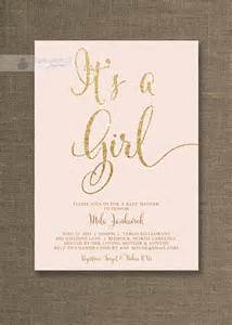Cheap Shabby Chic Home Decor Blush Pink Amp Gold Baby Shower Invitation It S By