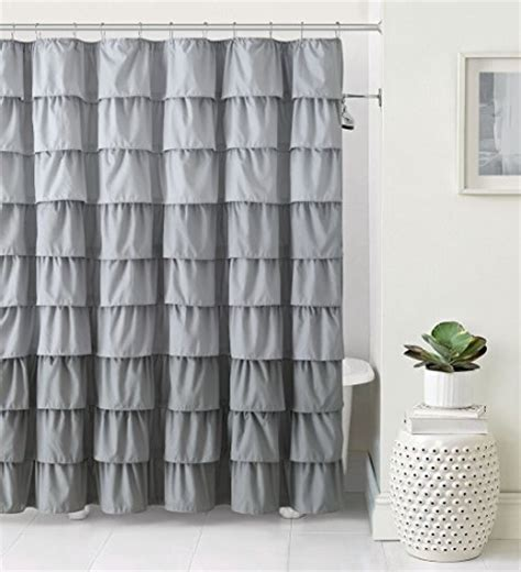 ruffle ombre shower curtain vcny home heavy duty luxurious gypsy ruffled ombre fabric