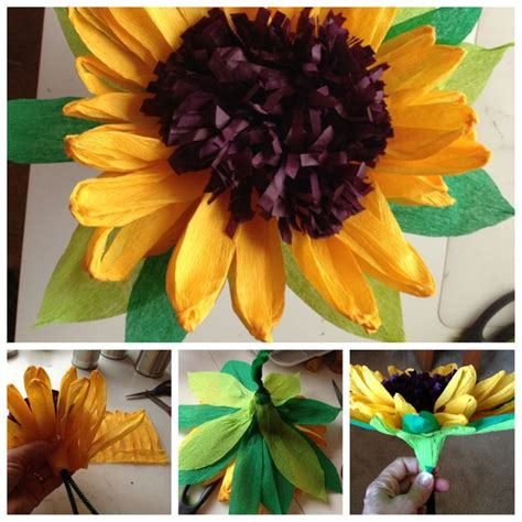 como hacer un girasol gigante de papel 17 best images about papel crepe on pinterest crepe