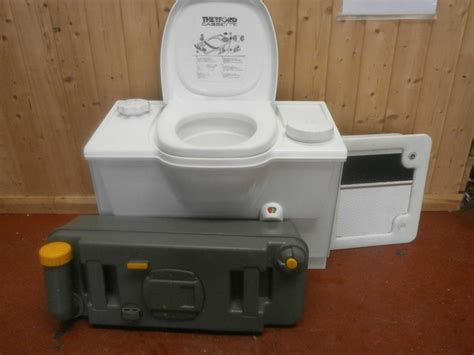 toilet bench caravan motorhome conversion white thetford bench cassette