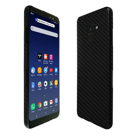Samsung Galaxy A8 2018 Black samsung galaxy a8 techskin black carbon fiber skin 2018