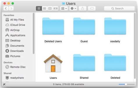 os x move user home directory