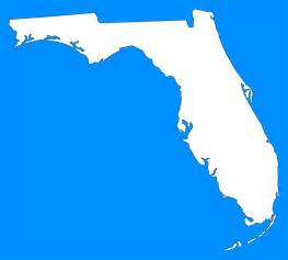 shape of florida on map florida quot plain frame quot style maps in 30 colors