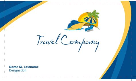tours and travel business card templates business card