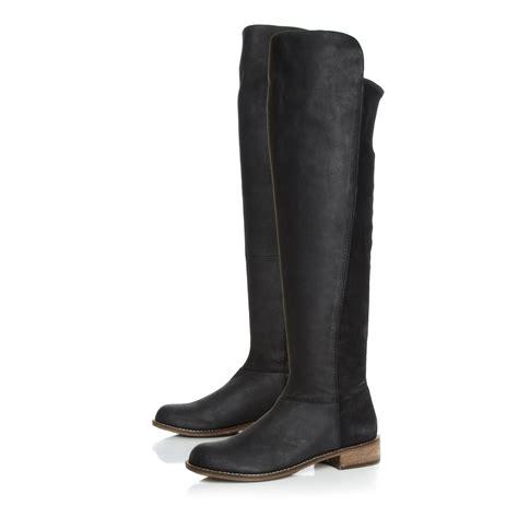 steve madden house shoes steve madden hazele boots in black lyst