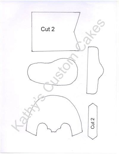 boot cake template gumpaste baby cowboy boot template by kathy s custom cakes