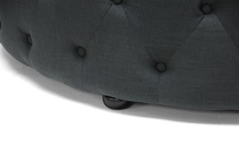 baxton studio cardiff ottoman baxton studio cardiff dark gray linen modern tufted