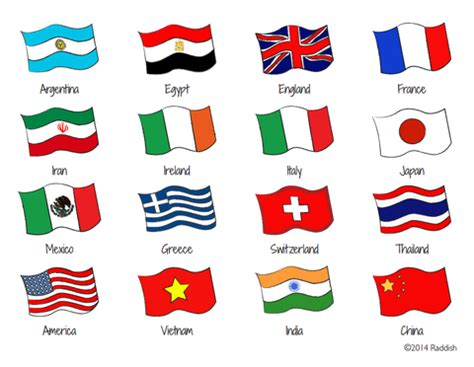 printable pictures of flags from around the world kitchen olympics raddish kids