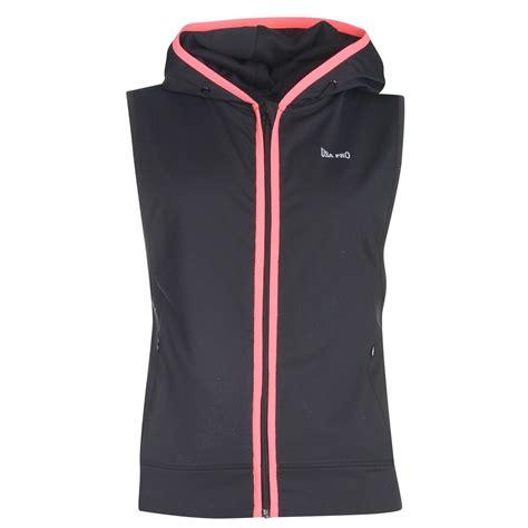 Jaket Sweater Hoodie Zipper Usa Athletic usa pro womens sleeveless hoodie zip sports fitness hoody ebay