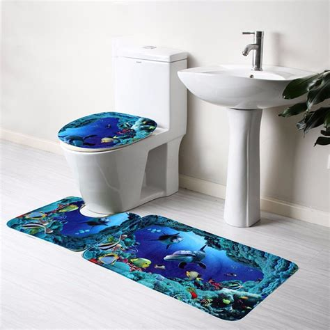 ocean blue bathroom accessories aliexpress com buy bathroom accessories 3pcs bathroom