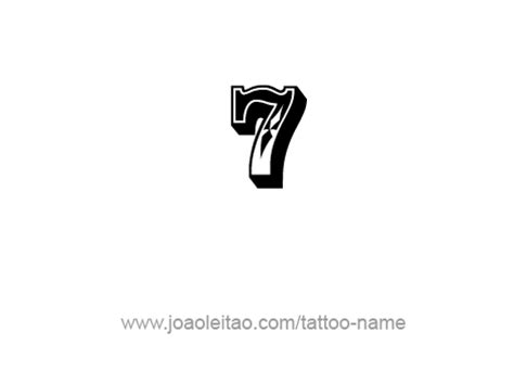 number 7 tattoo seven 7 number designs tattoos with names
