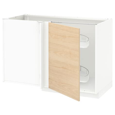 metod corner base cab w pull out fitting white askersund