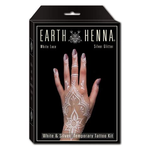 henna temporary tattoo kit buy white lace silver glitter henna kit