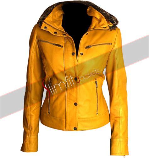 yellow motorcycle jacket kill bill uma thurman yellow motorcycle replica jacket